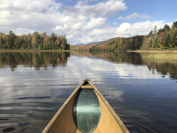 Sanford Lake, looking north toward the High Peaks. Photo by Phil Brown