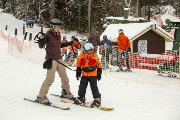 The Adaptive Winter Sports Program is one of many programs the Double H Ranch in Lake Luzerne offers children with chronic illnesses or disabilities. Photo by Mike Lynch