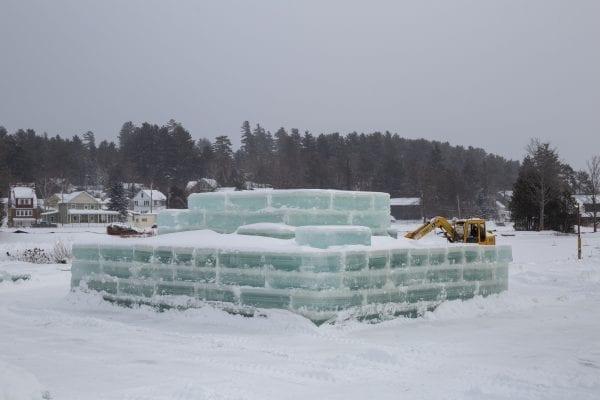The Saranac Lake ice palace Monday afternoon.