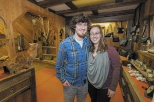 Leather Artisan owners Broyce and Allison Guerette