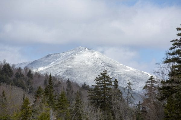 A view of Whiteface Mountain from state Route 86 on April 1. Photo by Mike Lynch