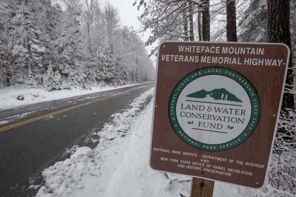 Snow fell in Wilmington this morning, leading to some accumulation on the ground at about 2,500 feet in elevation. Photo by Mike Lynch