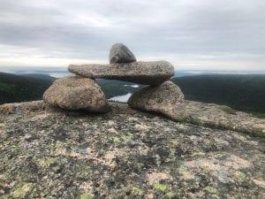 bates cairn in Acadia