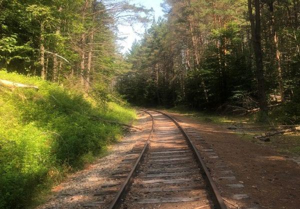 rail trail Saranac Lake