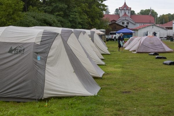 Cycle Adirondacks stopped at the Essex County Fairgrounds in Westport this year. Photo by Mike Lynch