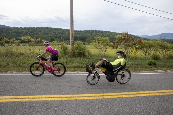 Cycle Adirondacks participants ride through farmlands in the northeastern eastern Adirondacks. Photo by Mike Lynch