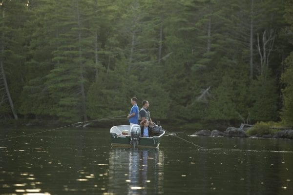 Fishing is popular on Lower Saranac Lake and the nearby Saranac River. Photo by Mike Lynch