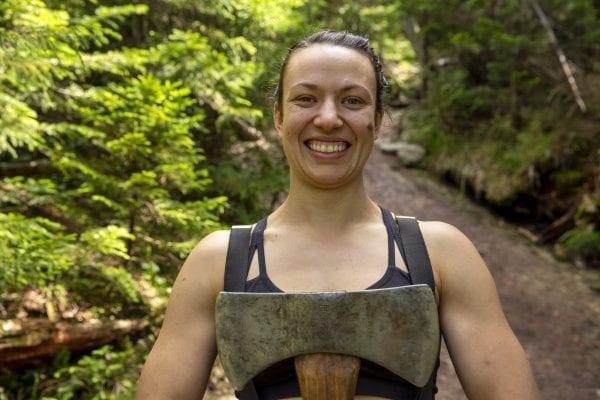 Adirondack Mountain Club professional trail crew boss Adeline Clayton. Photo by Mike Lynch