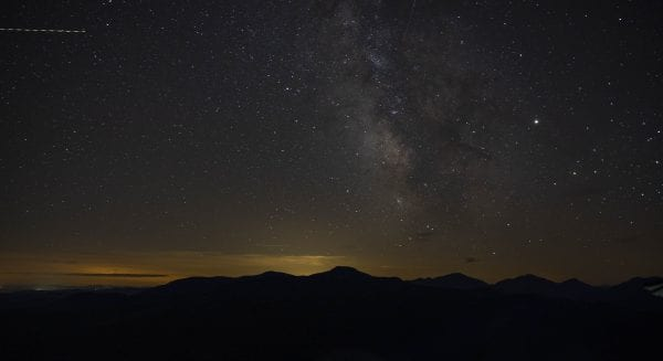 A view of the Milky Way from Hurricane Mountain. Photo by Mike Lynch