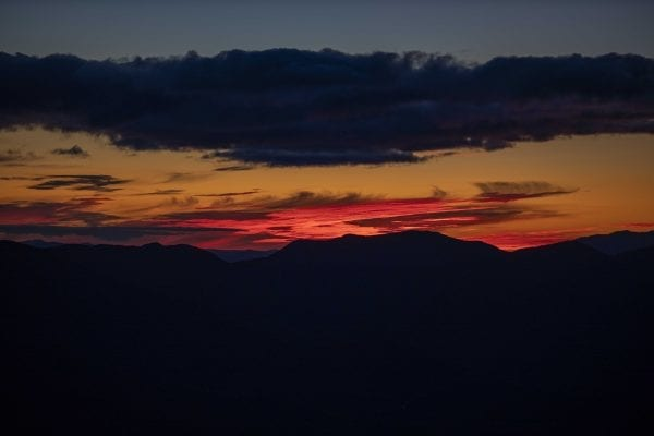 The sunset from Hurricane Mountain fire tower. Photo by Mike Lynch
