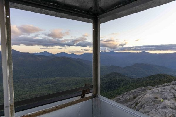 A view from the Hurricane Mountain fire tower. Photo by Mike Lynch