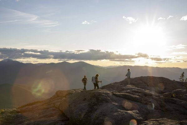 Hikers on the summit of Hurricane Mountain. Photo by Mike Lynch