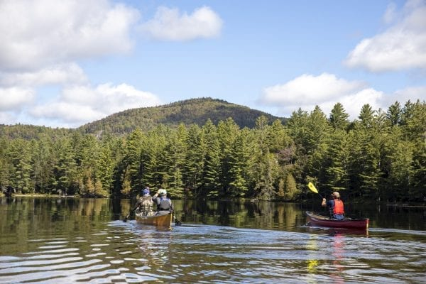 Scenes from Long Pond in the St. Regis Canoe Area in early September, where North Country Community College students in the Wilderness Recreation Leadership program where in the midst of a monthlong backcountry trip. Photo by Mike Lynch