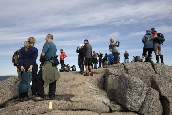A crowded Cascade Mountain on Sunday, September 29. Photo by Mike Lynch