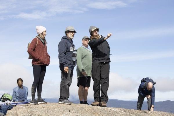 Adirondack Mountain Club Summit Steward Coordinator Kayla White on Cascade Mountain. Photo by Mike Lynch