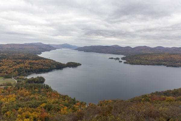 A view of Lake George from Record Hill on Lake George Lake Conservancy's Anthony's Nose property. Photos by Mike Lynch