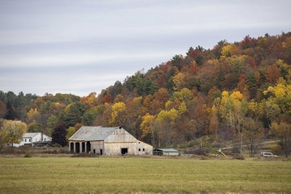 An old barn in Washington County on the eastern side of Lake George. Photo by Mike Lynch