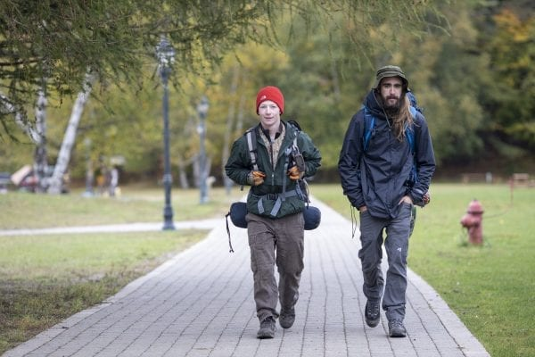 Students walk across campus at Paul Smith's College, one of many small colleges nationwide that are facing challenges because of their size and rural locations. Photo by Mike Lynch