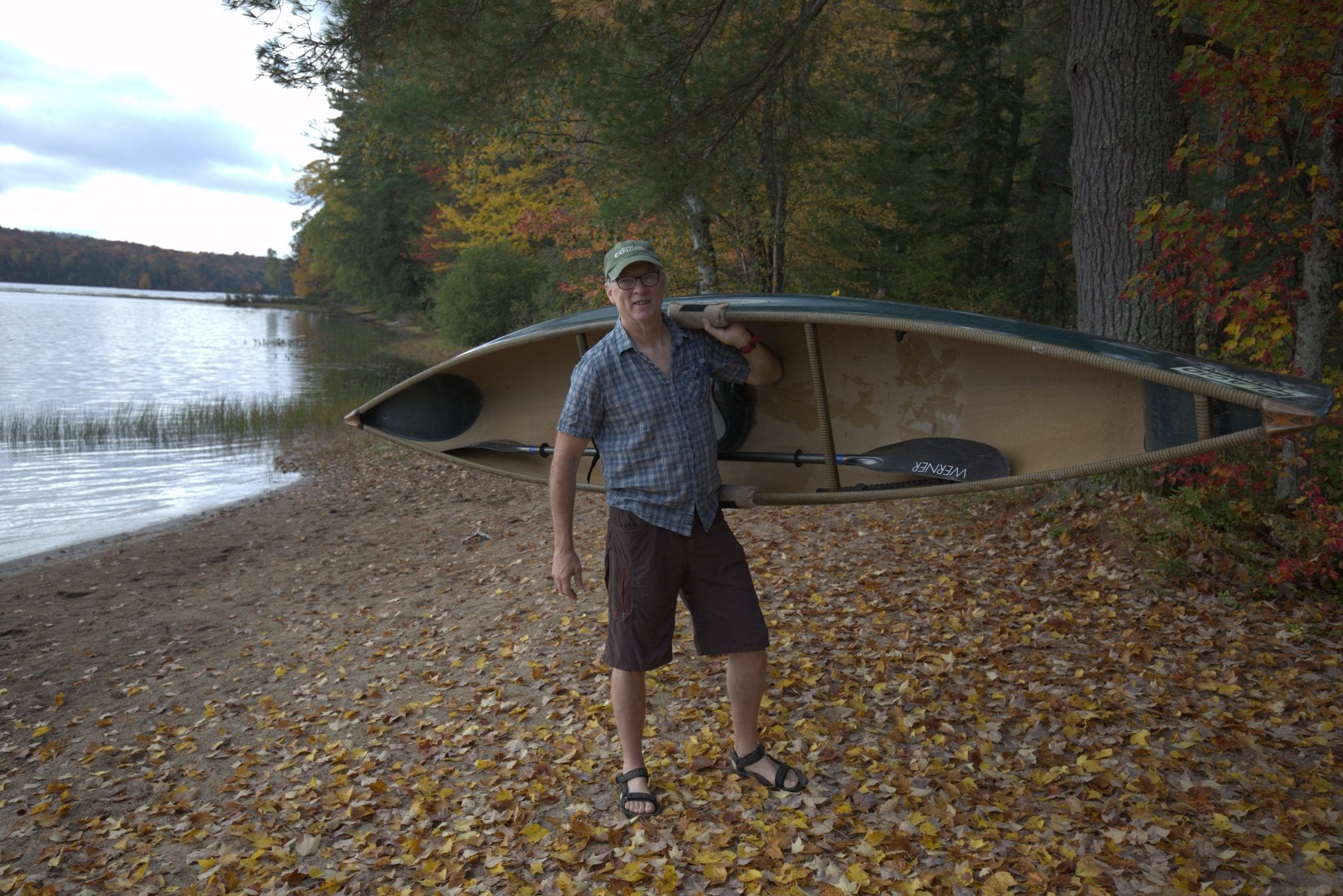 Phil Brown with canoe