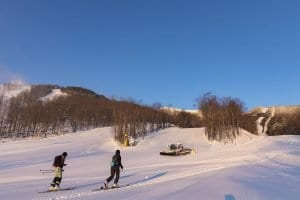 Uphill Skiing at Whiteface Mt.