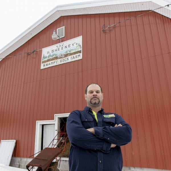 The Sweeney family, of Boonville, says road salt contaminated their drinking water, killing livestock on their farm and causing health issues for them. Former farm owners Benjamin and Barbara Sweeney passed on the farm to their son, Brian Sweeney. See Ry Rivard's article on road salt contamination in the May 2020 issue of the Adirondack Explorer for more information about this family's story. Photo by Mike Lynch