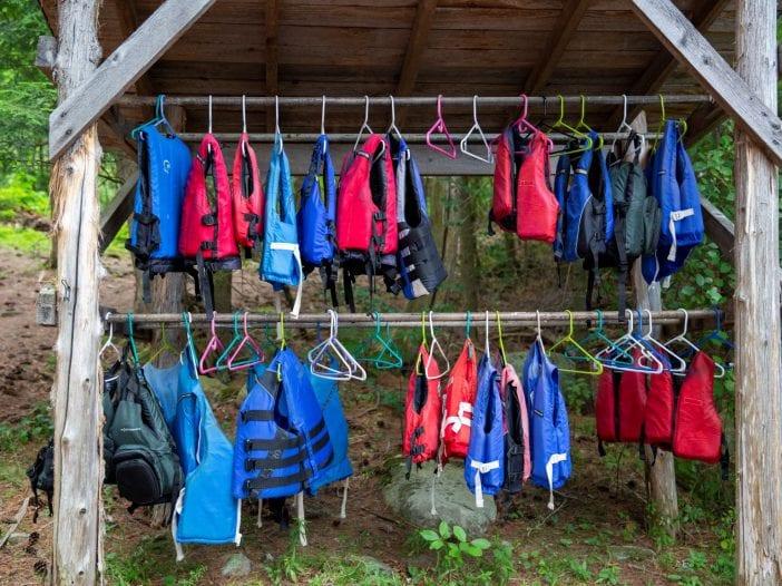 life jackets at camp