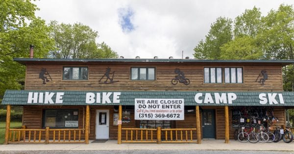 Mountainman Outdoor Supply Company, in Old Forge, as seen in late May. Photo by Mike Lynch