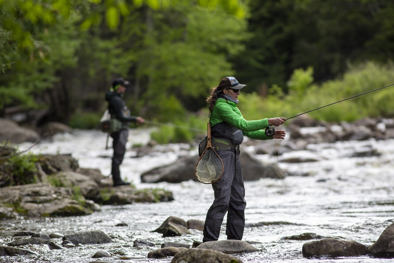 Anglers on the West Branch of the Ausable River. Photo by Mike Lynch