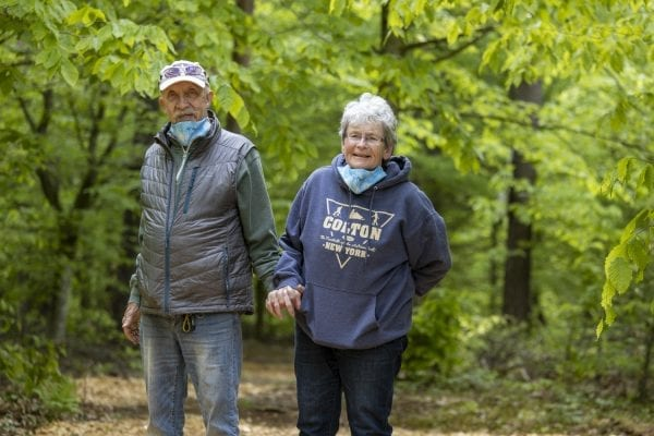 Ed and Judy Fuhr at Higley Flow State Park. Photo by Mike Lynch