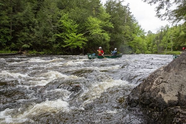Question: Can you name this set of rapids that is popular with whitewater enthusiasts?  Answer: Permanent Rapids on the Saranac River in Bloomingdale.