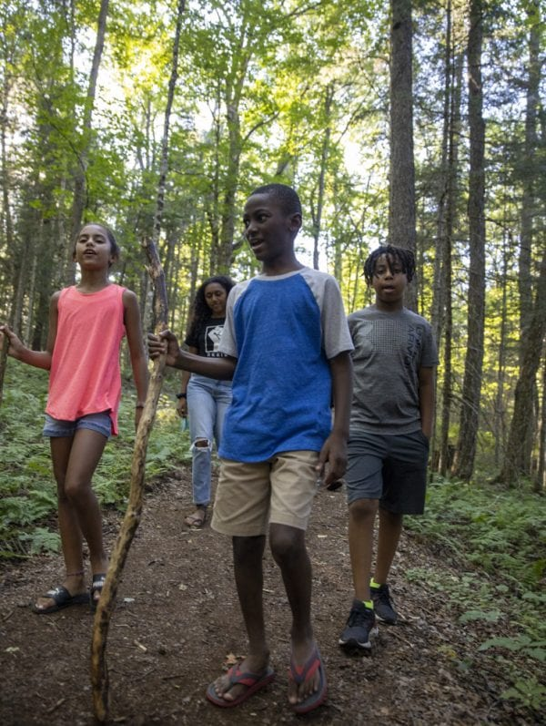 Hikers enjoy the trails at the Paul Smith's College's VIC. Photo by Mike Lynch