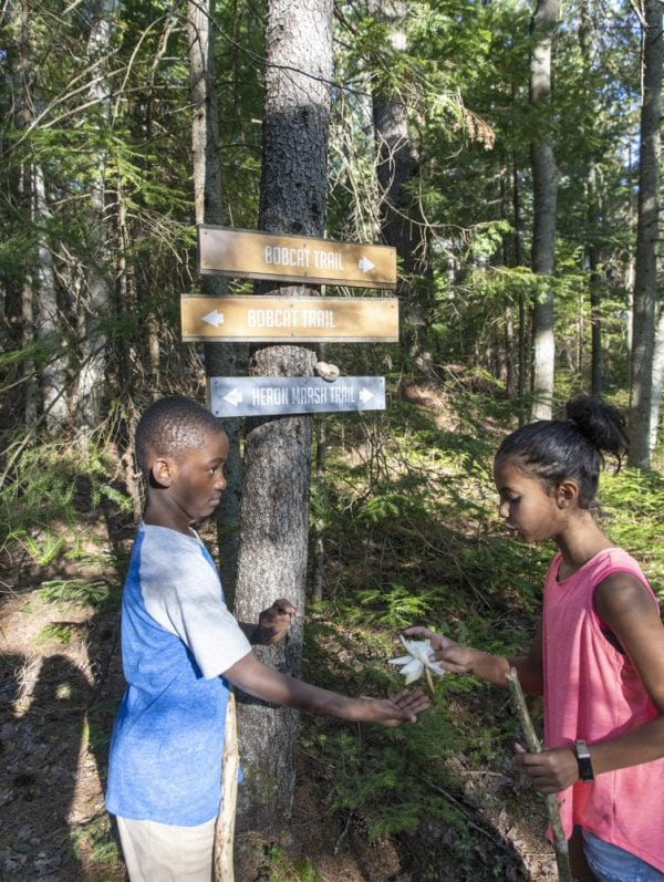 The Adirondack Diversity Initiative organized a hike at the Paul Smith's College VIC in late July and were included in a feature in the September issue about anti-racism efforts in the Park. Photo by Mike Lynch