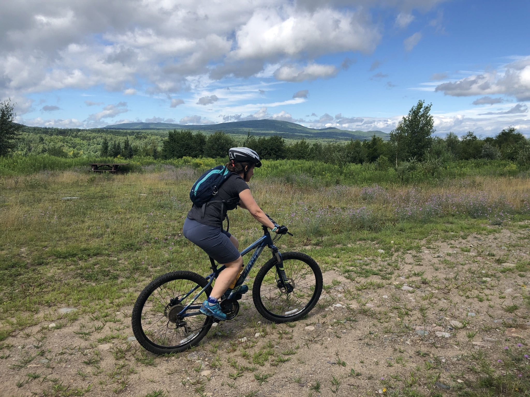 Barnes Pond biking