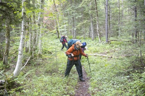 Betsy Kepes, Teresa Stone and Megan Lane did a multiday traverse around the Seward Range in the western High Peaks. Multimedia reporter Mike Lynch met up with them along the Cold River near Shattuck Clearing. Here are some images captured during that meet up.