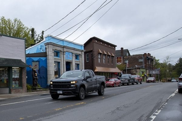 Closure affecting downtown Old Forge.