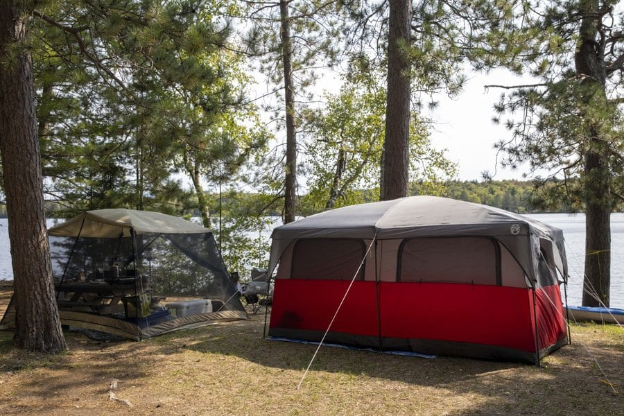 fish creek campground in the summer