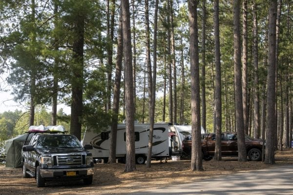 A camp set up at Fish Creek Pond Campground. Photo by Mike Lynch