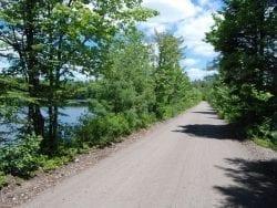 Railbed leading to Spring Pond Bog
