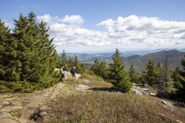 Hikers leave the summit of Catamount. Photo by Mike Lynch