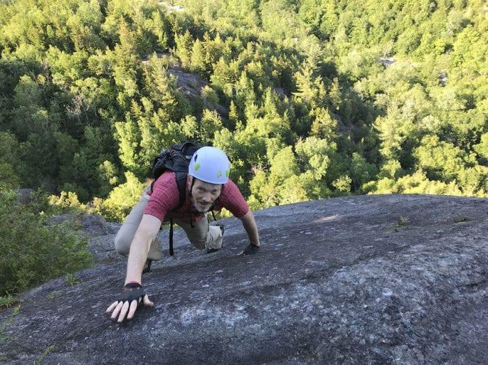 Monty Worth climbs Bob's Knob Standard