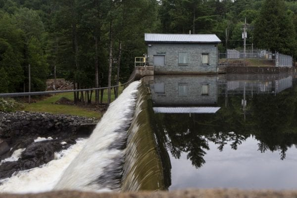 Franklin Falls Dam is the first dam on the Saranac River below the village of Saranac Lake. Photo by Benjamin Chambers