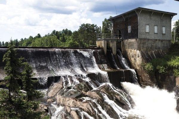 Union Falls Dam in the Northeastern Adirondacks. Photo by Benjamin Chambers