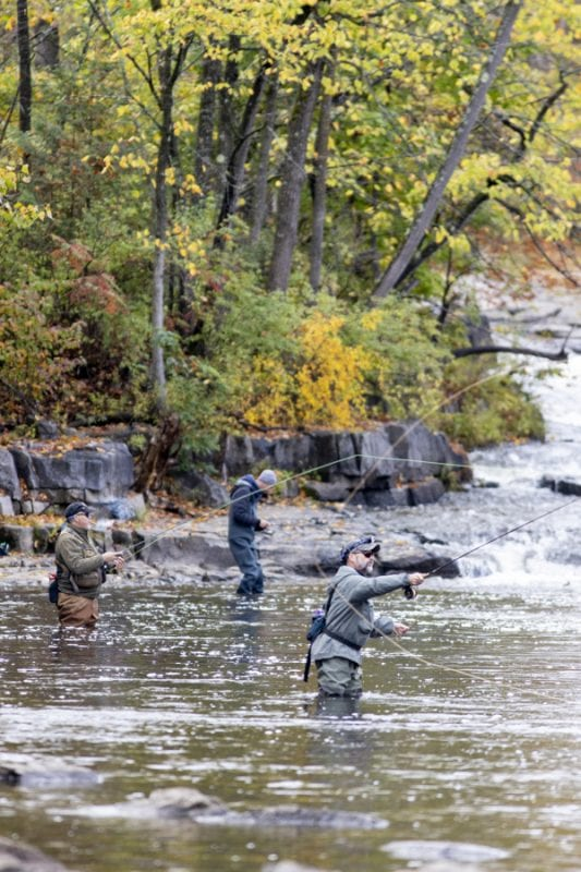 Anglers on the Boquet River. Photo by Mike Lynch