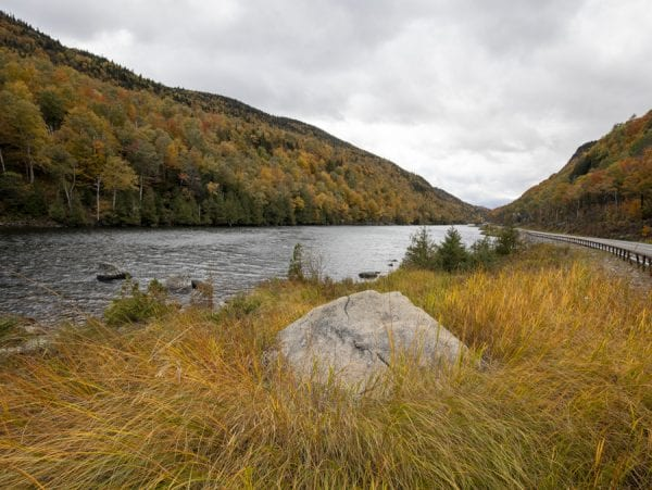 Fall colors at Lower Cascade Lake in Keene. Photo by Mike Lynch