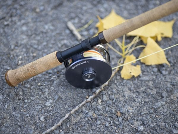 The reel on a fly-fishing rod. Photo by Mike Lynch