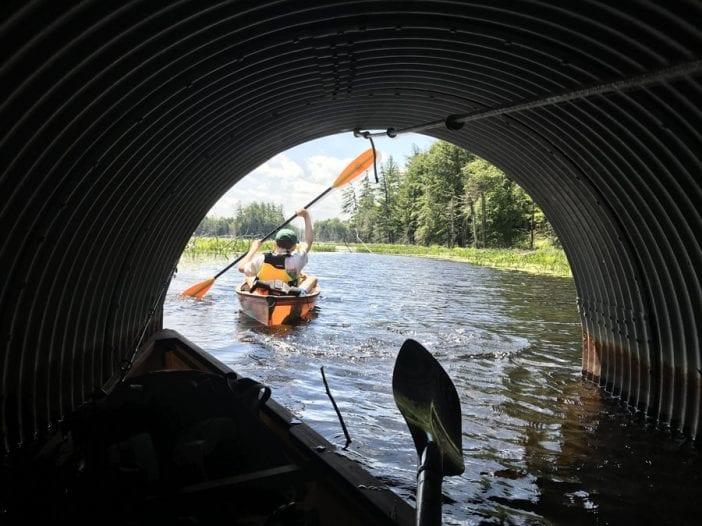 Essex Chain Lakes culvert passage.