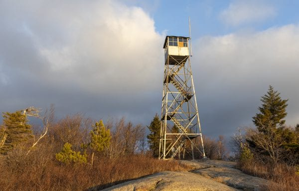 The firetower atop Poke-O-Moonshine. Photo by Mike Lynch