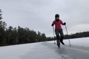 When ice is deeper than snow, it's Nordic skating time