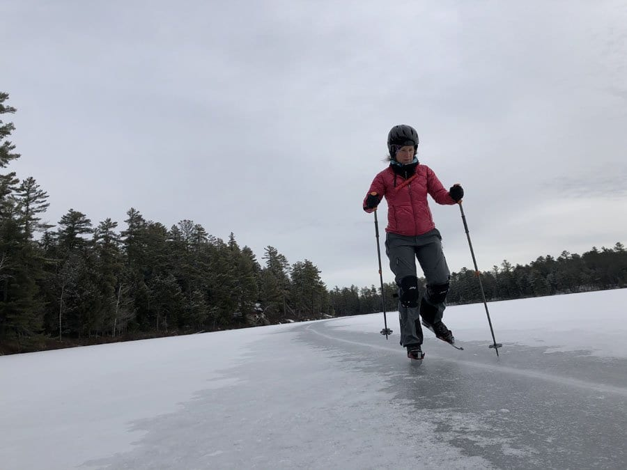 Skating on Little Green Pond.