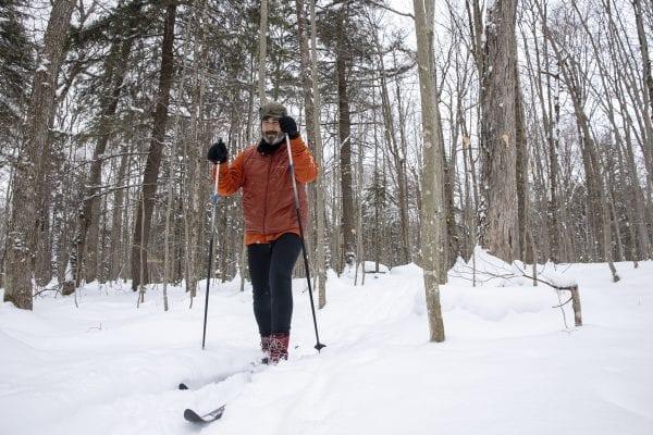 Explorer editor Brandon Loomis enjoys the fresh snow. Photo by Mike Lynch